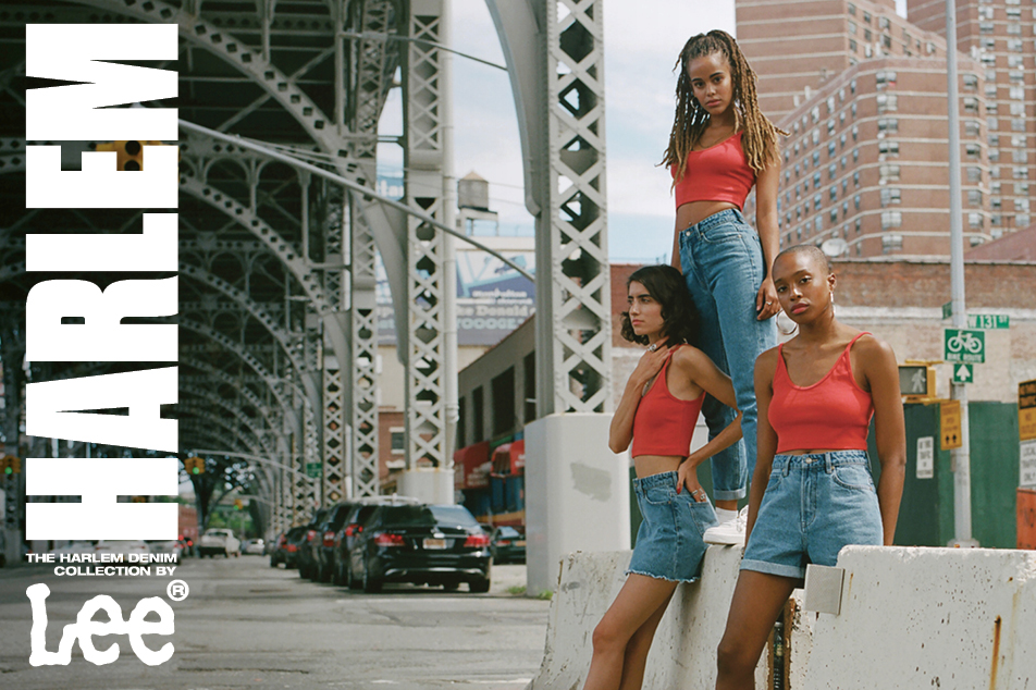 girls wearing lee jeans harlem denim collection of shorts jeans and skirts
