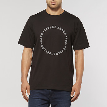 Image of Lee APEX OVERSIZED T-SHIRT BLACK ROCK