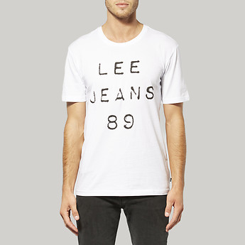 Image of Lee 89ER T-SHIRT WHITE