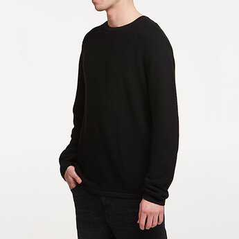 Image of Lee Jeans Australia Black   LINK KNIT CREW BLACK
