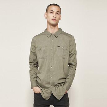 609f1f46fb1 Image of Lee Jeans Australia Khaki LS UTILITY SHIRT OLD KHAKI
