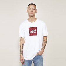 Picture of CREW NECK PRINTED TEE WHITE