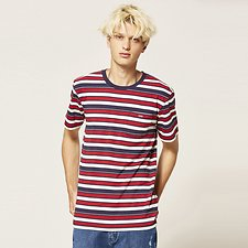 Picture of CREW NECK TEE RED STRIPE