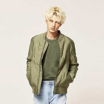 Image of Lee Jeans Australia Khaki QUILTED BOMBER KHAKI