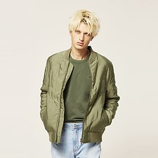 Picture of QUILTED BOMBER KHAKI