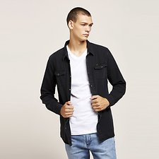 Image of Lee Jeans Australia PIGMENT BLACK SIMPLE SHIRT WASHED BLACK