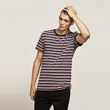 Image of Lee Jeans Australia French Stripe NO BRAINER TEE FRENCH STRIPE
