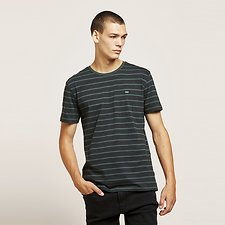 Picture of NO BRAINER STRIPE TEE SPRUCE