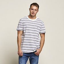 Image of Lee Jeans Australia Nay Stripe NO BRAINER TEE BIXBY STRIPE