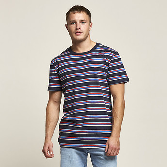 Image of Lee Jeans Australia Trench Navy NO BRAINER TEE TEMPLE STRIPE