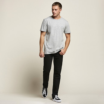Image of Lee Jeans Australia Grey Marle NO BRAINER TEE GREY MARL