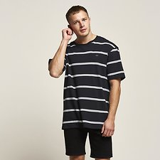 Image of Lee Jeans Australia Black   ALTOS OVERSIZE TEE BLACK STRIPE
