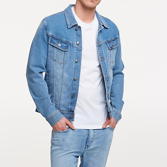 Image of Lee Jeans Australia New Jersey Blue 101 DENIM JACKET STUDIO BLUE