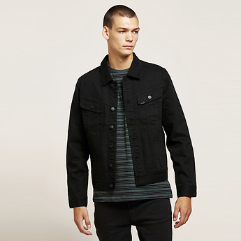 Image of Lee 101 DENIM JACKET BASS BLACK
