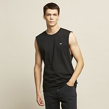 Image of Lee Jeans Australia Black   HIGGS LOGO MUSCLE TANK BLACK