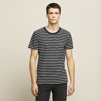 Image of Lee Jeans Australia Black/White ALTOS Y/DYE TEE BLACK/WHITE