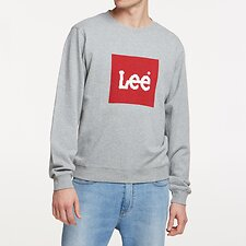 Image of Lee Jeans Australia Grey Marle ESTABLISHED CREW GREY MARLE