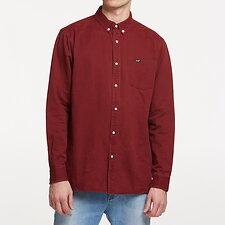 Image of Lee Jeans Australia CRIMSON LONG ISLAND COTTON SHIRT CRIMSON