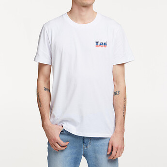 Image of Lee Jeans Australia White BASEMENT LOGO TEE WHITE