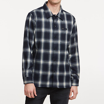 Image of Lee Jeans Australia Navy Check GRIDLOCK CHECK SHIRT NAVY CHECK