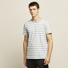 Image of Lee Jeans Australia Marle Stripe BLOCK STRIPE TEE GREY MARLE