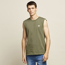 Image of Lee Jeans Australia Camo Green RETRO LOGO MUSCLE CAMO GREEN