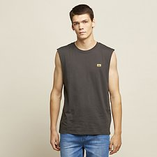 Image of Lee Jeans Australia Washed Black RETRO LOGO MUSCLE WASHED BLACK