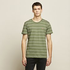 Image of Lee Jeans Australia Camo Green SIMPLE STRIPE TEE CAMO GREEN
