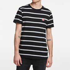 Image of Lee Jeans Australia Black Stripe STREETS STRIPE TEE BLACK STRIPE