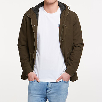 Image of Lee Jeans Australia MILITARY GREEN SUPPLY PARKA MILITARY GREEN