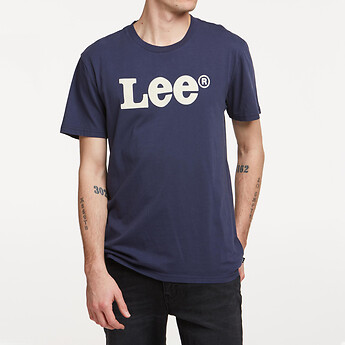 Image of Lee Jeans Australia Navy ARCHIVE LOGO TEE NAVY