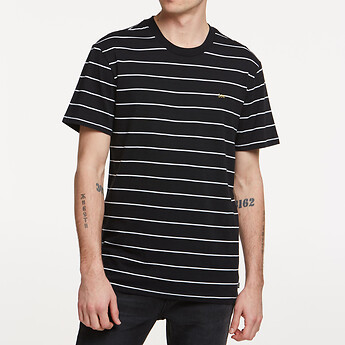 Image of Lee Jeans Australia BLACK STRIPE STRIPE NO BRAINER TEE BLACK STRIPE
