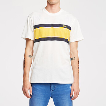 Image of Lee Jeans Australia RACER STRIPE NO BRAINER TEE RACER STRIPE