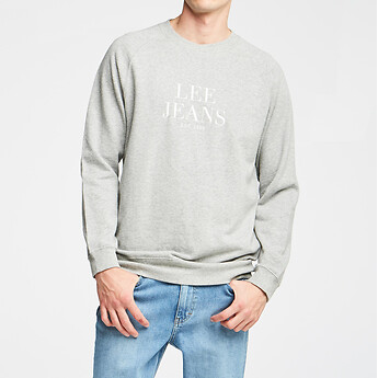 Image of Lee Jeans Australia Grey Marle RAGLAN LEE CREW GREY MARLE