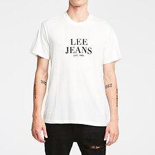 Image of Lee Jeans Australia Vintage White LEE EST 89 TEE VINTAGE WHITE