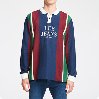Image of Lee Jeans Australia RE-UP STRIPE STREETS L/S POLO RE-UP STRIPE