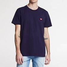 Image of Lee Jeans Australia Navy NO BRAINER EMB TEE NAVY