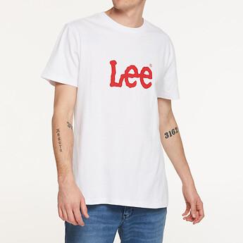 Image of Lee Jeans Australia White   TWITCH LOGO TEE WHITE/RED