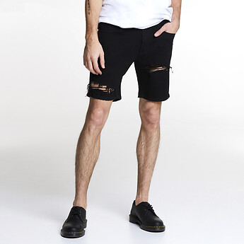 Image of Lee Jeans Australia Raven Damage L-TWO TOUR SHORT RAVEN DAMAGE