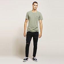 Image of Lee Jeans Australia Hanger Black Z1 CROP RAW HEM HANGER BLACK