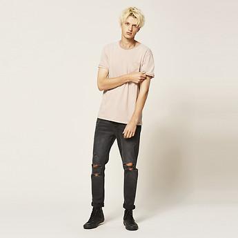 Image of Lee Jeans Australia Hanger Black Rip Z-ROLLER HANGER BLACK RIP