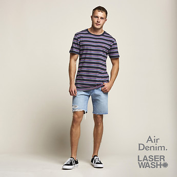 Image of Lee Jeans Australia Halcyone Blue L-TWO SHORT HALCYONE BLUE