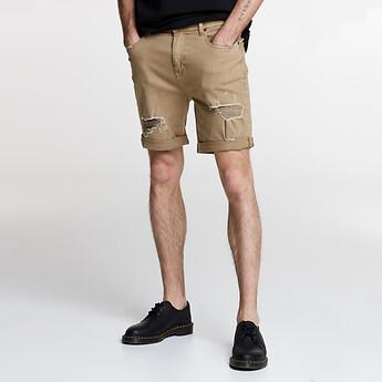 Image of Lee Jeans Australia TAN DESTROY Z-ROADIE SHORT TAN DESTROY
