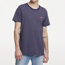 Image of Lee Jeans Australia NAVY STRIPE STREETS STRIPE TEE NAVY STRIPE