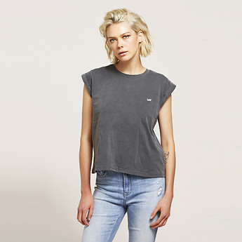 Image of Lee Jeans Australia Washed Grey NO BRAINER TEE WASHED GREY