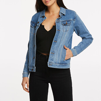 Image of Lee Jeans Australia New Jersey Blue BOYFRIEND JACKET STUDIO BLUE
