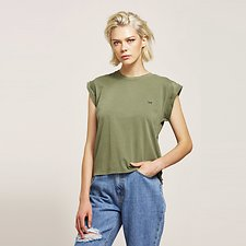 Picture of NO BRAINER UTILITY TEE KHAKI