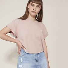 Picture of CROP SCOOP TEE SMOKEY ROSE