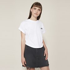 Picture of CROP SCOOP TEE WHITE
