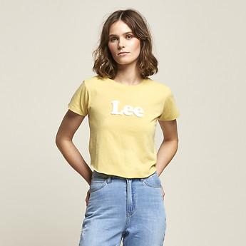 Image of Lee Jeans Australia Yellow OUTLAND LOGO TEE YELLOW
